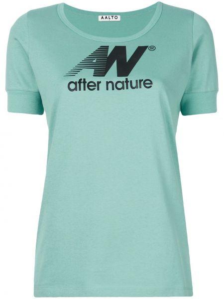 Zielony t-shirt bawełniany Aalto