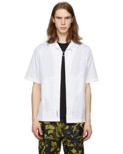 Koszula krótki rękaw bawełniana z haftem Mcq Alexander Mcqueen