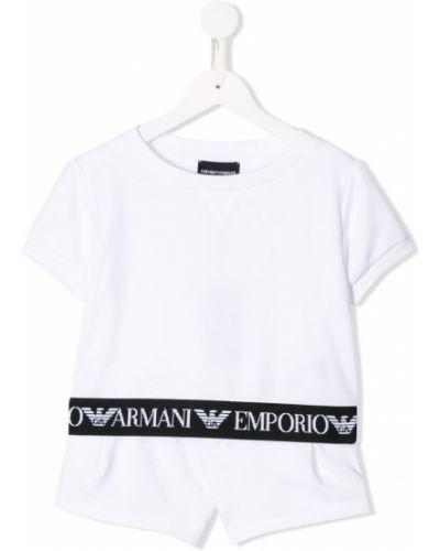 Костюм белый короткий Emporio Armani Kids