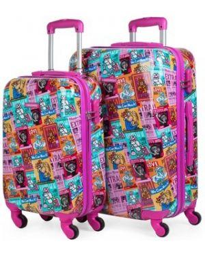 Różowa walizka Kukuxumusu