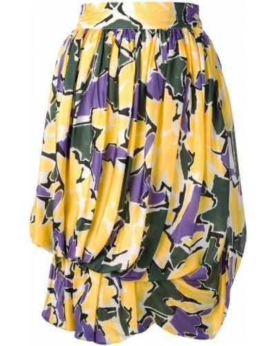 Юбка с цветочным принтом винтажная Versace Vintage