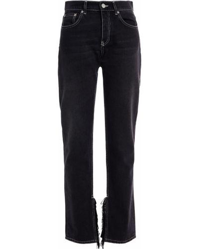 Джинсовые прямые джинсы - черные Ganni