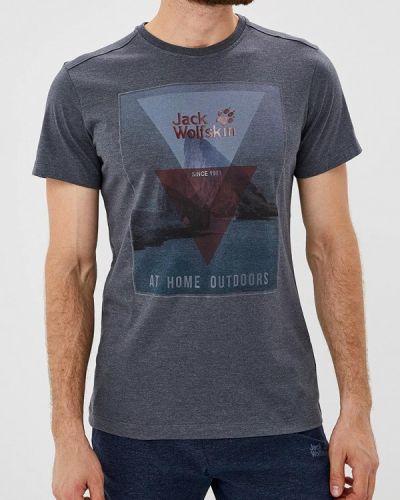 Синяя футболка Jack Wolfskin