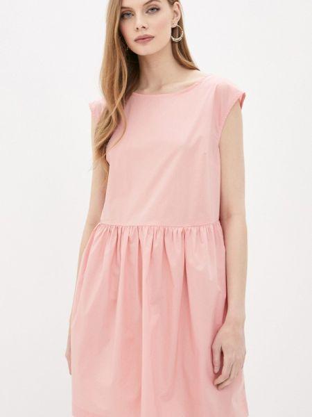 Повседневное платье розовое весеннее Woolrich