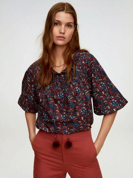 Блузка с длинным рукавом синяя весенний Mango