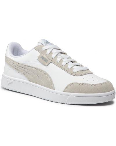 Białe półbuty zamszowe Puma