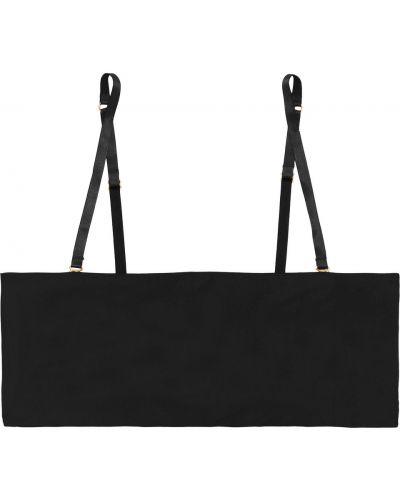 Черный трикотажный бралетт классический Commando