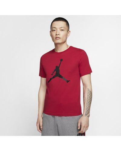 Czerwony t-shirt oversize z printem Nike