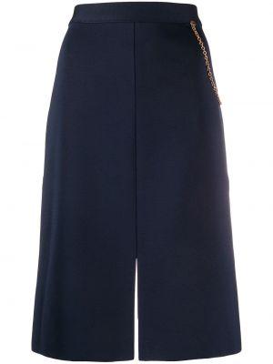 Spódnica ołówkowa ciemny niebieska Givenchy