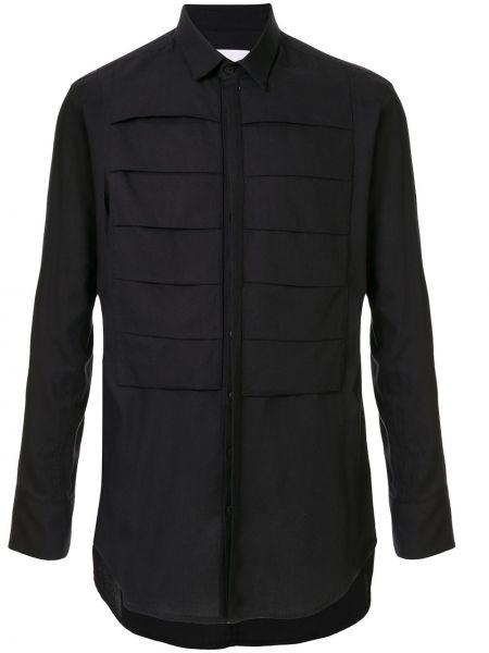 Черная рубашка с воротником на пуговицах Strateas Carlucci