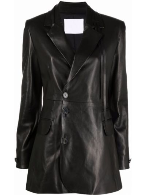 Черный пиджак с карманами Drome