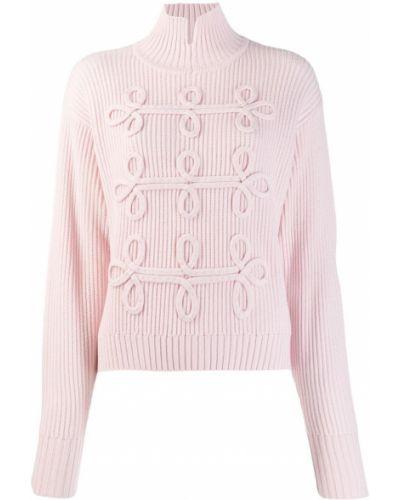 Вязаный джемпер свободного кроя розовый Karl Lagerfeld