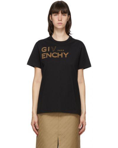Bawełna brązowy koszula z krótkim rękawem z kołnierzem z haftem Givenchy