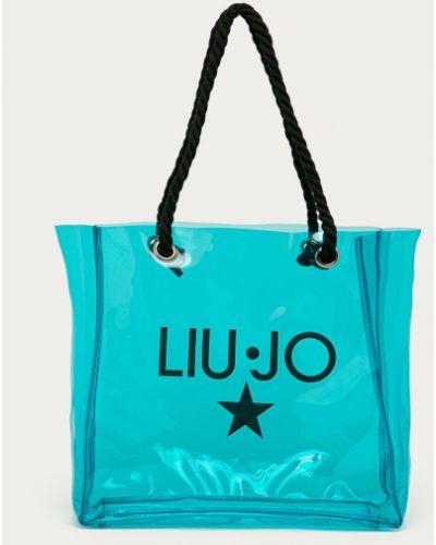 Niebieska torebka duża z printem Liu Jo