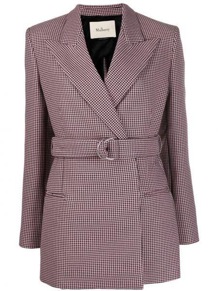 Розовый пиджак Mulberry