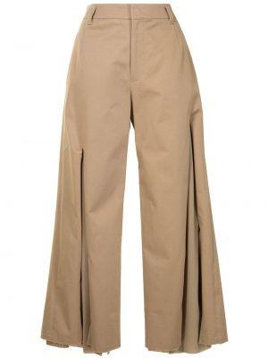 Бежевые брюки с поясом Undercover