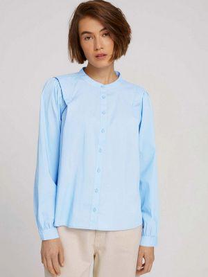 Голубая блузка осенняя Tom Tailor Denim