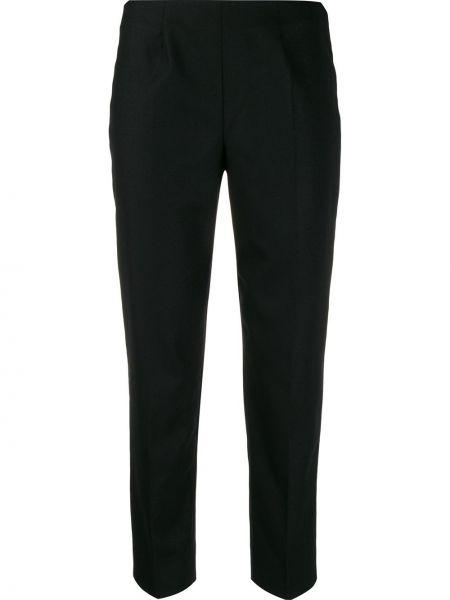 Czarne spodnie wełniane Piazza Sempione