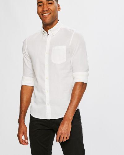 Белая рубашка однотонная S.oliver