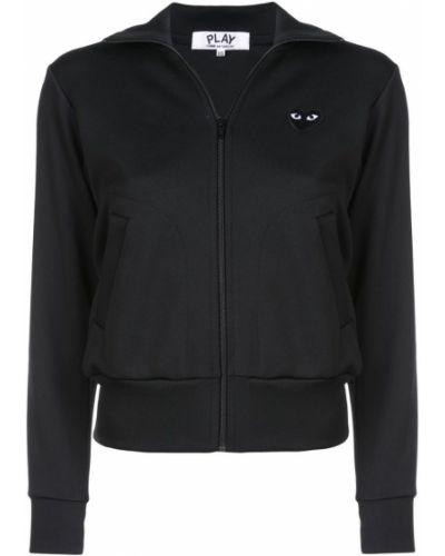 Черная спортивная куртка Comme Des Garçons Play