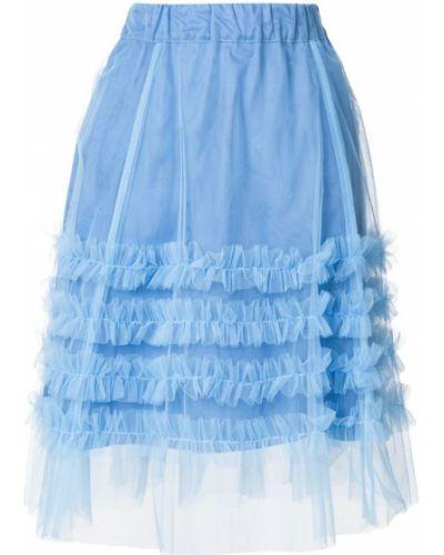 Синяя юбка с воланами P.a.r.o.s.h.