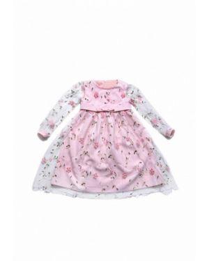 Платье на торжество розовый Yumster