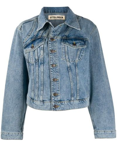 Синяя джинсовая куртка с манжетами на пуговицах Ottolinger