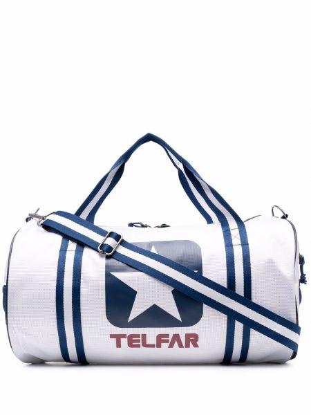 Biała torebka z printem Telfar