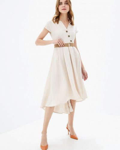Платье прямое бежевое Vilatte