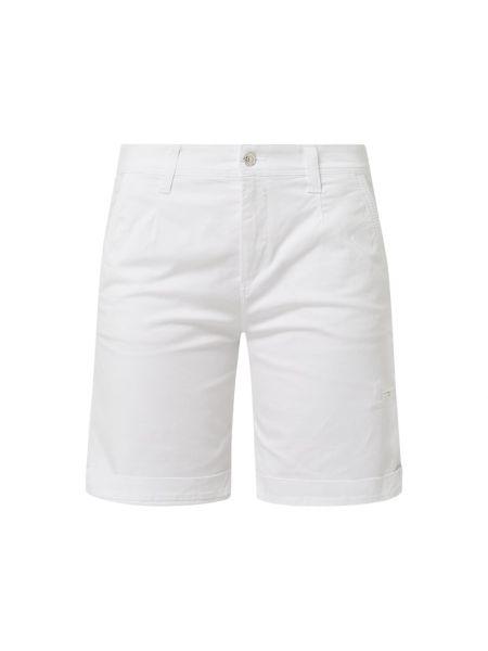 Białe bermudy bawełniane Mac