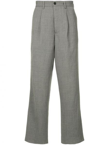 Прямые прямые брюки с поясом на пуговицах новогодние Bergfabel