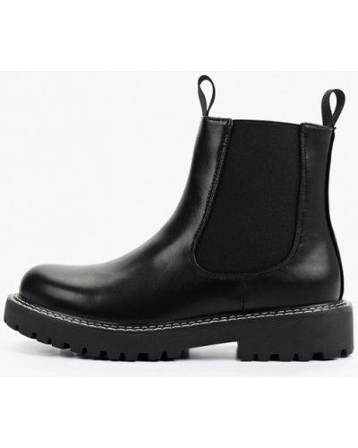 Черные кожаные ботинки Ideal Shoes®