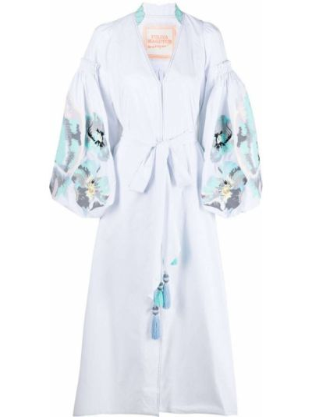 Хлопковое платье миди - белое Yuliya Magdych