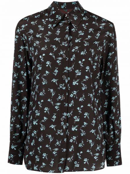 Koszula w kwiaty - czarna Paul Smith