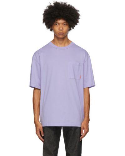Bawełna z rękawami koszula z logo na trądzik Acne Studios