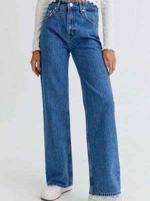 Прямые джинсы - синие Pull&bear