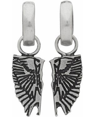 Kolczyki ze srebra metal Marcelo Burlon County Of Milan