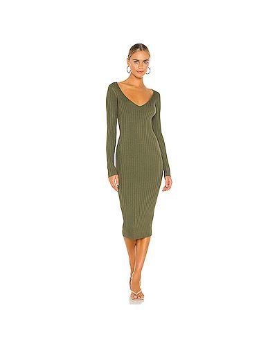 Оливковое платье из вискозы с завязками Nbd