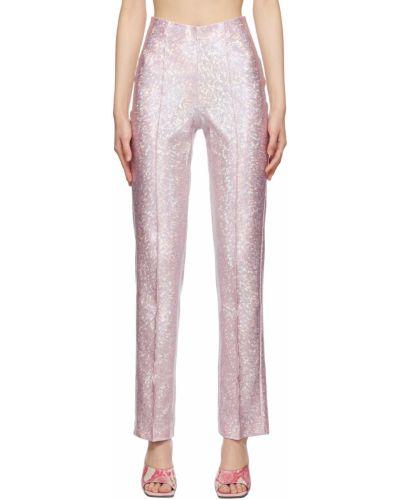 Różowe spodnie srebrne Saks Potts