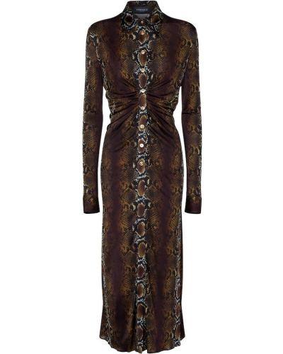 Платье макси - коричневое Versace