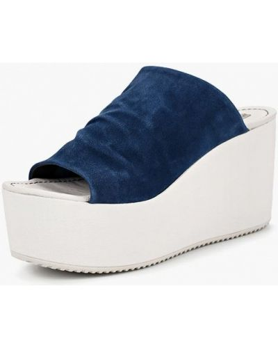 Сабо замшевые на каблуке Tosca Blu