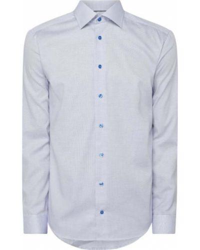 Niebieska koszula bawełniana z długimi rękawami Eton