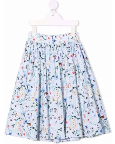 Spódnica rozkloszowana w kwiaty - niebieska Molo Kids