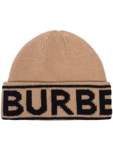 Kaszmir beżowy czapka zimowa Burberry