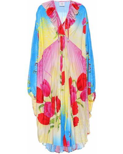 Платье миди футляр с цветочным принтом Vetements