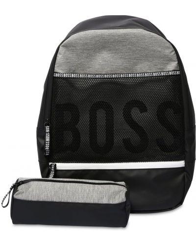 Czarny plecak z nylonu Hugo Boss