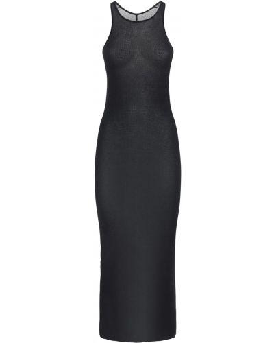 Czarny sukienka z wiskozy Rick Owens