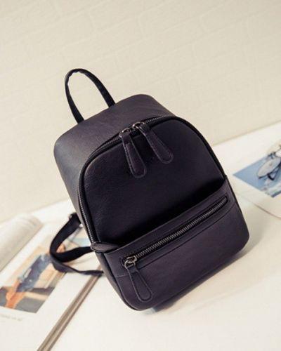 Кожаная сумка - черная Jingpin