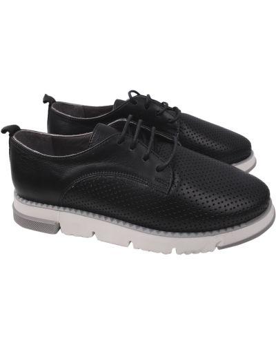 Кожаные туфли - черные Aquamarin