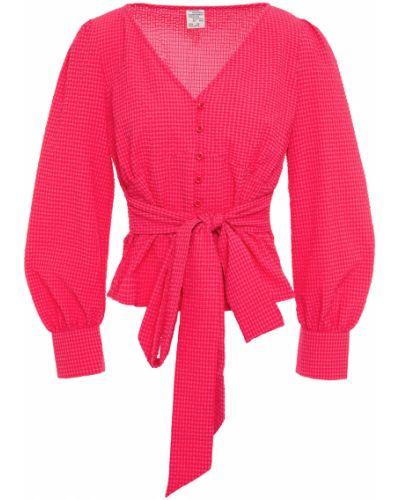 Розовая блузка с манжетами на пуговицах Baum Und Pferdgarten
